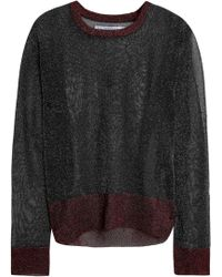 Zoe Karssen - Metallic Knitted Jumper - Lyst