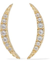 Elizabeth and James - Gold-tone Topaz Earrings - Lyst