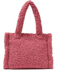 Stand Studio Liz Faux Shearling Tote - Red