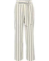 Rebecca Minkoff - Molly Striped Cotton Wide-leg Trousers - Lyst