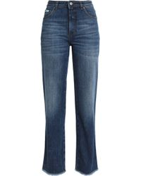 ALEXACHUNG - Faded Mid-rise Straight-leg Jeans - Lyst