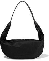 The Row Sling 15 Leather-trimmed Shell Shoulder Bag Black
