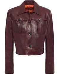 Magda Butrym Leather Jacket Chocolate - Brown