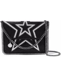 Stella McCartney - Falabella Mini Embroidered Faux Brushed-leather Shoulder Bag - Lyst