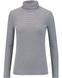 Petit Bateau - Miller Striped Cotton-jersey Turtleneck Top - Lyst