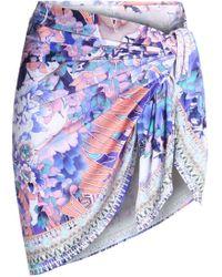 Camilla - Printed Jersey Pareo - Lyst
