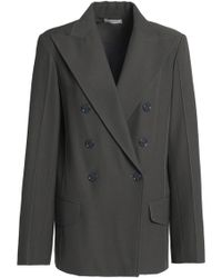 Nina Ricci - Woman Double-breasted Twill Blazer Anthracite - Lyst