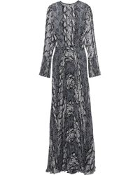 Mikael Aghal Pleated Georgette Gown - Blue