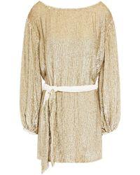 retroféte - Retrofête Velvet-trimmed Sequined Chiffon Mini Dress - Lyst