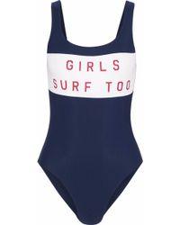 Zoe Karssen Printed Swimsuit Navy - Blue
