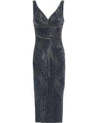 Rachel Gilbert Sequined Tulle Dress Midnight Blue