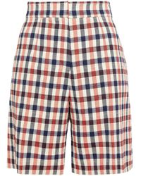 Victoria, Victoria Beckham Checked Jacquard Shorts - Multicolour