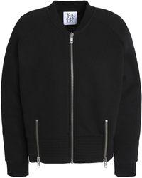 Zoe Karssen Zip-detailed Cotton-blend Jersey Jacket Black