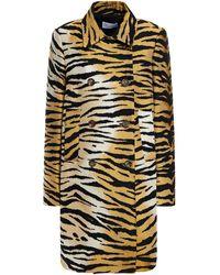 RED Valentino Tiger-jacquard Coat Animal Print - Multicolour
