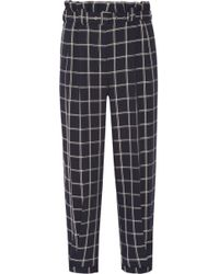 Elizabeth and James - Fritz Cropped Checked Crepe Tapered Pants - Lyst