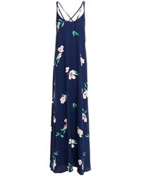 Reformation Miguel Crepe Maxi Slip Dress - Blue