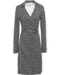 Diane von Furstenberg New Jeanne Two Printed Silk-jersey Wrap Dress White