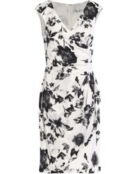 Mikael Aghal - Gathered Floral-print Silk Dress - Lyst