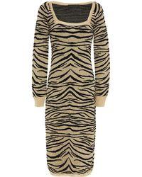 Dundas Metallic Jacquard-knit Dress - Multicolor