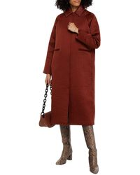 REMAIN Birger Christensen Kyoto Quilted Satin-crepe Coat - Brown