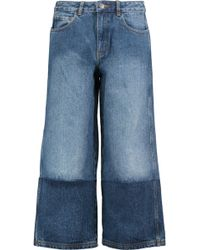 Robert Rodriguez - Two-tone Denim Culottes - Lyst