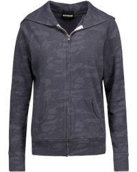 Monrow - Printed Jersey Hooded Sweatshirt - Lyst