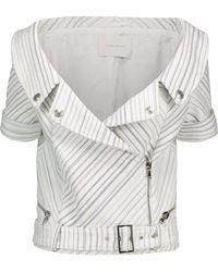 Balmain - Metallic Striped Woven Biker Jacket - Lyst