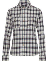 A.P.C. - Checked Cotton-blend Shirt - Lyst