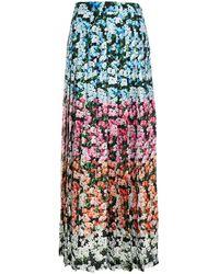 Mary Katrantzou Pleated Floral-print Crepe Maxi Skirt - Pink