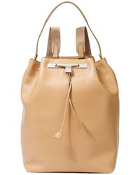 The Row 11 Leather Backpack Sand - Multicolour