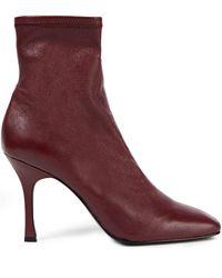 Reformation Ankle Boots Aus Leder - Lila