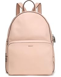 DKNY Textured-leather Backpack Pastel Pink