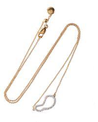 Monica Vinader - 18-karat Gold Vermeil Diamond Necklace Gold - Lyst