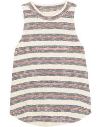 Madewell - Striped Ribbed Cotton-blend Top - Lyst