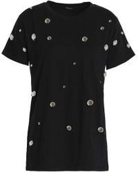 Dodo Bar Or Embellished Cotton-jersey T-shirt - Black