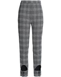 Ellery Cutout Checked Jacquard Slim-leg Trousers - Black