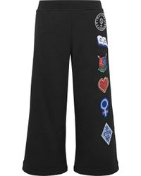 Opening Ceremony - Sorority Cropped Appliquéd Cotton-jersey Track Trousers - Lyst