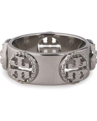 Tory Burch - Milgrain Silver-tone Ring - Lyst