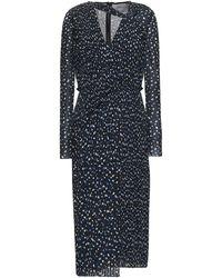 Jason Wu Pleated Printed Georgette Midi Dress - Black
