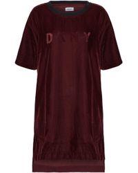 DKNY Embossed Velvet Nightshirt Burgundy - Purple