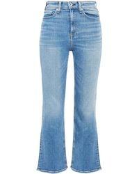Rag & Bone Faded High-rise Kick-flare Jeans Größe 24 - Blue