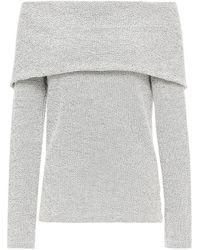 Hofmann Copenhagen Fallulah Off-the-shoulder Waffle-knit Cotton-blend Top - White