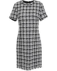 Kate Spade Frayed Bouclé-tweed Mini Dress Black