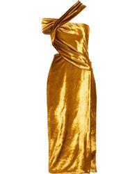 Jason Wu - Off-the-shoulder Draped Velvet Gown - Lyst