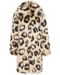 MICHAEL Michael Kors Tel aus kunstfell mit leopardenprint - Mehrfarbig