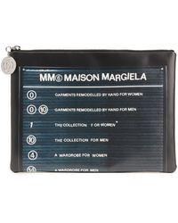 MM6 by Maison Martin Margiela Bedruckte pochette aus kunstleder - Grau