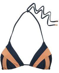 ViX Two-tone Triangle Bikini Top - Blue