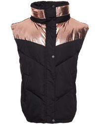 Ba&sh Quilted Two-tone Shell Vest - Black