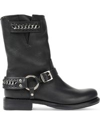 Frye - Jenna Chain-embellished Leather Boots - Lyst