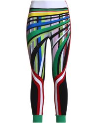 NO KA 'OI - Cropped Panelled Printed Stretch Leggings - Lyst